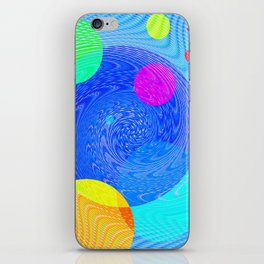 Re-Created Twisters No. 5 by Robert S. Lee iPhone Skin
