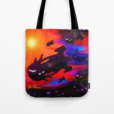 Space Armada Tote Bag