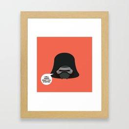 Kilo Ren - StarWars Framed Art Print