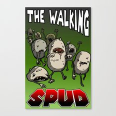 The Walking Spud Canvas Print