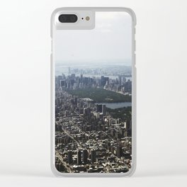 Manhattan From The Sky Clear iPhone Case