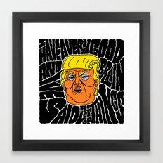 Trump's Good Brain Framed Art Print