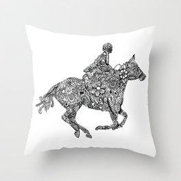 Horse Rider Throw Pillow