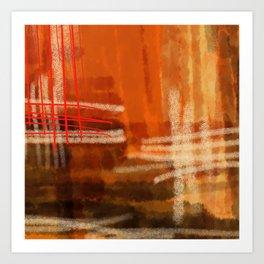 Hot summer-été brûlant- Mirage Art Print