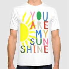 You Are My Sunshine Mens Fitted Tee White LARGE