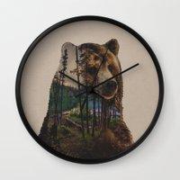 lake Wall Clocks featuring Bear Lake by Davies Babies
