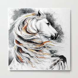 Dark Beauty Horse Metal Print
