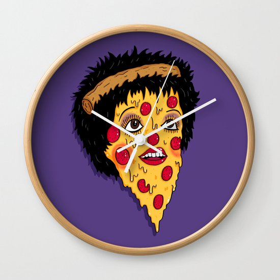Pizza Minnelli Wall Clock