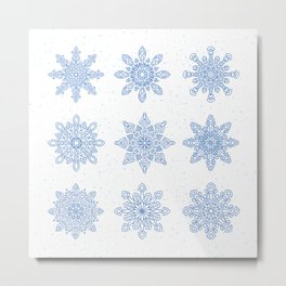 Snowflakes for Winter Metal Print
