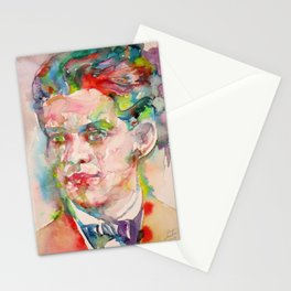 FEDERICO GARCIA LORCA - watercolor portrait Stationery Cards