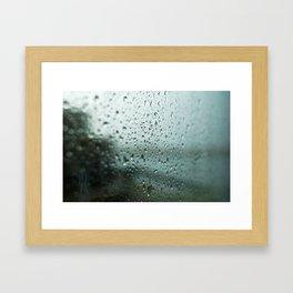 Rain on the Harbour Framed Art Print