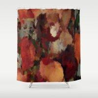 Autumn Mosaics Watercolor 2484 Shower Curtain
