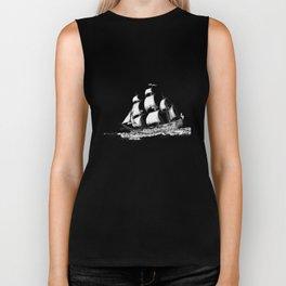 sailing ship . Home decor Graphicdesign Biker Tank