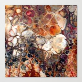 Earth Tones Granite Lava Flow Cells Canvas Print