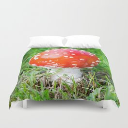 Fly agaric square Duvet Cover