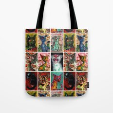 9 Zombie Cats version 2 Tote Bag