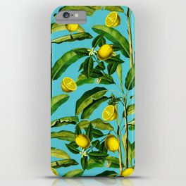 Lemon and Leaf II iPhone Case