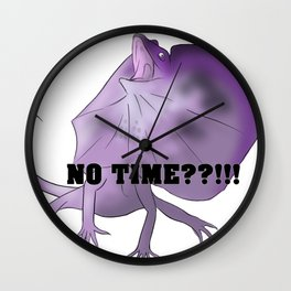 NO _______??!! frill neck Wall Clock