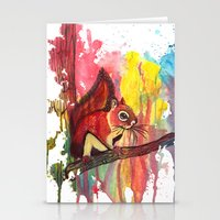 squirrel Stationery Cards featuring Squirrel by Halfmoon Industries