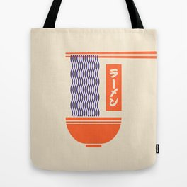 Ramen Japanese Food Noodle Bowl Chopsticks - Cream Tote Bag