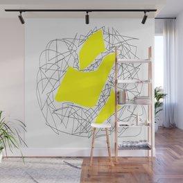 Collage yellow gar Wall Mural