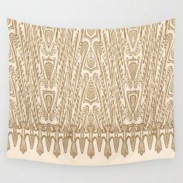 Sepia Macramé Arrowhead Chenille Lace Pattern Wall Tapestry