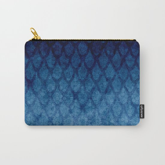 Blue texture Carry-All Pouch