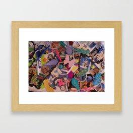 Hidden Objects Toys Framed Art Print