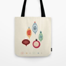 Retro Christmas Baubles Tote Bag
