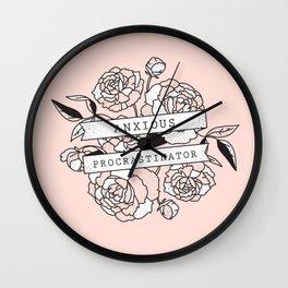 anxious procrastinator Wall Clock