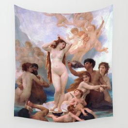 The Birth of Venus by William Adolphe Bouguereau Wall Tapestry