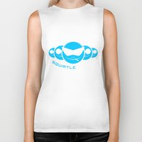 squirtle Biker Tanks featuring Squirtle Squad by Ube Bones