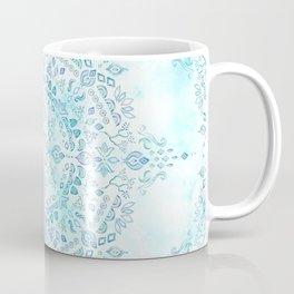 Moroccan Mandala in Blue and Mint Coffee Mug