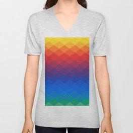 Polygonal Rainbow Unisex V-Neck