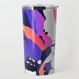 The purple color is turning peachy Travel Mug