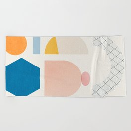 Abstraction_Shapes Beach Towel