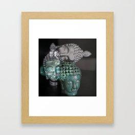 Scattered Buddhas Framed Art Print