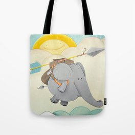 Explorer Elephant Tote Bag