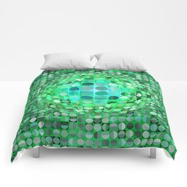 Optical Illusion Sphere - Green Comforters