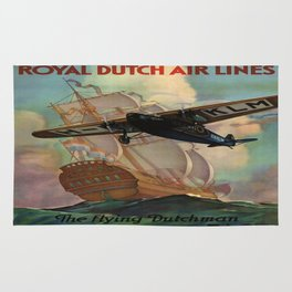 Vintage poster - Royal Dutch Airlines Rug