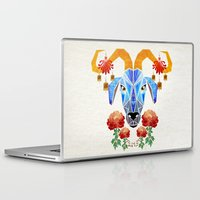 chinese Laptop & iPad Skins featuring chinese goat by Manoou
