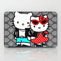 rockabilly iPad Cases featuring Rockabilly Kitty by BURPdesigns