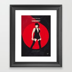 No742 My Cabaret minimal movie poster Framed Art Print