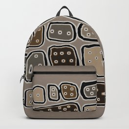 Rounded Boxes with Eyes Backpack