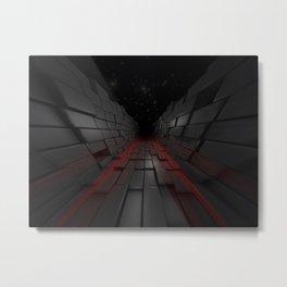 The Dark 3D Path Metal Print