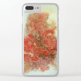 scattered thought Clear iPhone Case