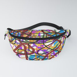 Rainbow Energy Abstract Digital Painting Fanny Pack