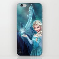 frozen elsa iPhone & iPod Skins featuring Elsa Frozen by Niniel