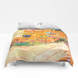 Klimt Study (Water Serpents) Comforters