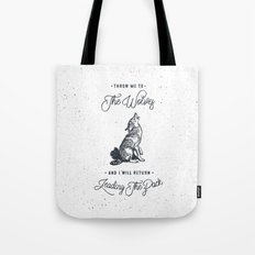 WOLF #BLUE Tote Bag